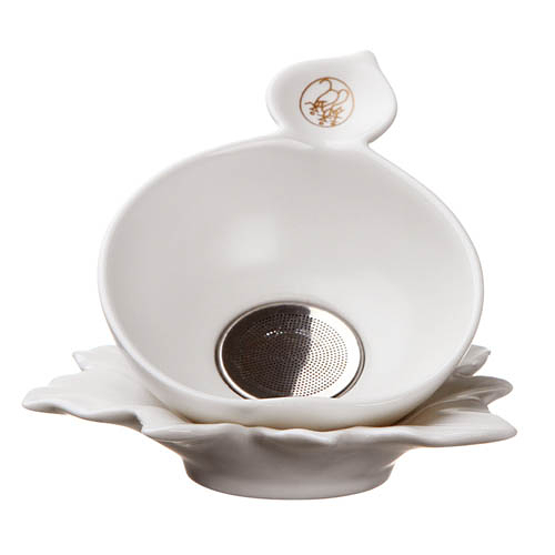 定窯巧雲茶濾組-(9 x 3 x cm) 茶漏 茶具配件 茶具 濾網 現貨