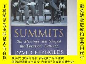 二手書博民逛書店Summits:Six罕見Meetings that Shaped the Twentieth Century D