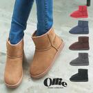 OLLIE雪靴 正韓製 經典基本款布標 貓掌防滑低筒短靴【F720001】6色 SD韓美鞋