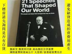 二手書博民逛書店21罕見Speeches that shaped our wor