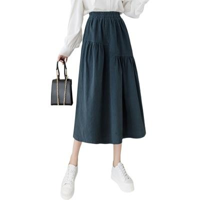 大碼女裝褲裙~不規則時尚大氣半身裙女春秋超a字大擺工裝裙高腰中長款長裙GD612A愛尚布衣