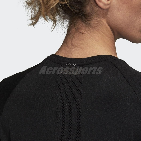 adidas T恤 D2M Logo Tee 黑 白 三條線 女款 基本款 【ACS】 CW3878