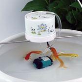 景德鎮圓形陶瓷魚缸過濾器養魚盆流水擺件噴泉加濕增氧循環過濾器ATF 美好生活居家館