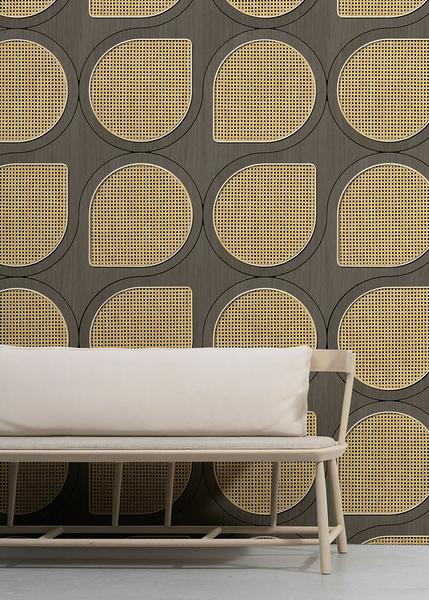 編織紋 藤編織圖案 木紋壁紙 仿真 荷蘭壁紙 5色可選 NLXL CANE WEBBING / VOS-12