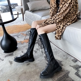 膝上靴 長靴女過膝夏季薄款英倫風2020新款秋冬騎士瘦瘦鞋高筒馬丁靴百搭