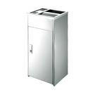 不鏽鋼菸灰缸垃圾桶 銀色(大) / 個 AT2-75