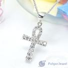 FU飾品 流行飾品 生日情人節母親節 禮物 贈品 造型十字架鋯石項鏈【Fulgor Jewel】