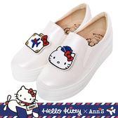 HELLO KITTY X Ann'S一起去旅行可隨意交換貼布刺繡厚底懶人鞋