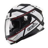 【SOL SF-5 ALPHA  阿爾法 SF5 全罩 安全帽 亮黑白 】內襯全可拆、內藏鏡片、免運+好禮