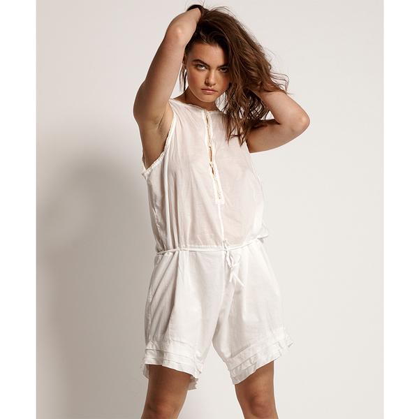 ONETEASPOON WW VOILE FRENCH FANTAISIE PLAYSUIT 連身褲-女(白)