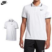 Nike Dry Polo Solid 男 白 運動襯衫 短袖 短T Polo衫 高爾夫 排汗 透氣 短袖 830848100