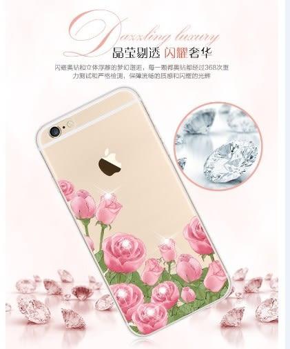 [24hr 火速出貨] 鑲鑽 手機殼 蘋果 iphone 6s 蘋果 6plus 手機保護套 新水鑽 彩繪 軟套 精緻