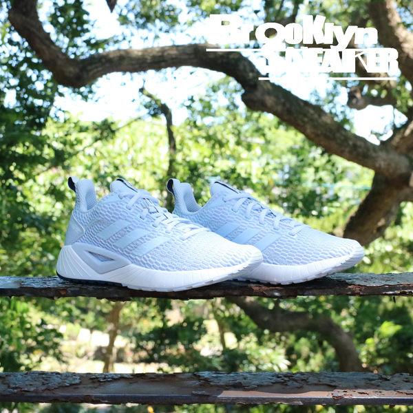 Adidas Questar cc 白底 灰藍 慢跑鞋 女  (布魯克林) DB1304