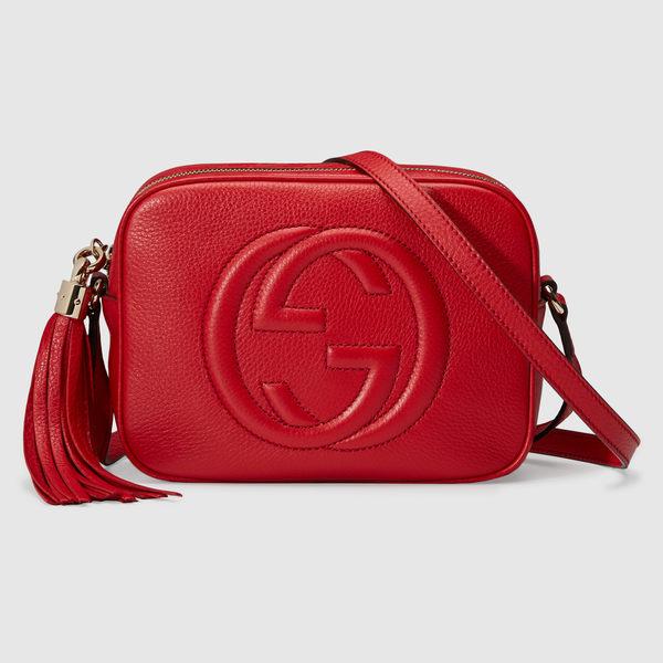 【雪曼國際精品】GUCCI 308364 A7M0G 6523 soho disco bag 肩背包(紅色)~預購款