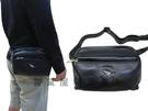 ~雪黛屋~Cougar 專櫃霹靂真皮腰包二層拉鍊主袋隨身重要物品防竊盜功能包100%進口牛皮NCG8073黑