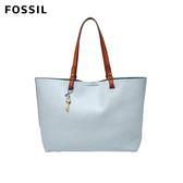 FOSSIL RACHEL 粉藍色簡約真皮托特包 ZB7311436