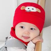 嬰兒帽子秋冬新生嬰幼兒帽子可愛超萌寶寶帽純棉加厚兒童毛線帽冬