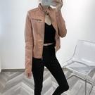皮衣 輕奢系列~ 皮衣女皮夾克修身小外套女士機車服