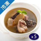 捷康大廚在家溫補麻油米血雞湯430G/盒x5【愛買冷凍】
