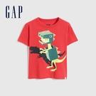 Gap男幼童 布萊納系列 純棉動物印花短袖T恤 697993-紅色