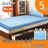 高週波+防潑水 8cm竹炭記憶床墊 單人3尺 (送高週波防潑水枕頭墊) KOTAS