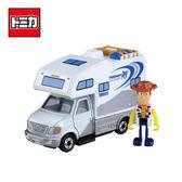 【日本正版】TOMICA 騎乘系列 TS-01 胡迪 x 露營車 玩具總動員4 玩具車 多美小汽車 - 134077
