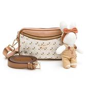 PLAYBOY- 斜背包可做腰包使用 四季兔的午茶時光系列 -米白色