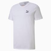 PUMA 男款白色微笑圖樣短袖T恤-NO.59642752