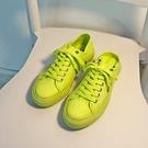 可踩無后跟綠色帆布鞋女半拖泫雅風韓版學生百搭ulzzang網紅板鞋 韓國時尚 618