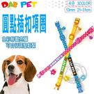 【培菓平價寵物網】《DAB PET》4分 圓點插扣項圈 (3款顏色)