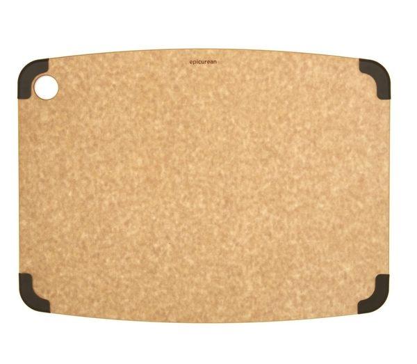 【美國Epicurean】防滑系列環保砧板S-原木色(防滑四角止滑款砧板)