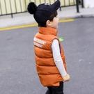 兒童羽絨棉馬甲立領男童女童加厚保暖秋冬中小童寶寶背心童裝外套