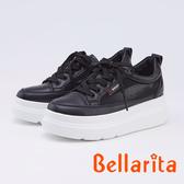 bellarita.網狀拼接厚底休閒鞋(9903-98黑色)