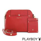 PLAYBOY- 鍊帶貝殼包 Grace Poppy系列-罌粟紅