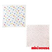 MIKI HOUSE BABY 日本製 柔軟洗澡雙層紗布浴巾 車車/花朵
