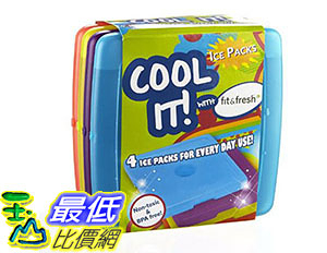 [美國直購] 午餐冰包 Fit Fresh Cool Coolers Slim Lunch Ice Packs Multicolored  Set of 4 B00CHOLNZS
