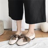 豆豆鞋 新款平底單鞋女夏蝴蝶結淺口軟底奶奶鞋孕婦豆豆鞋女瓢鞋 烤肉節促銷