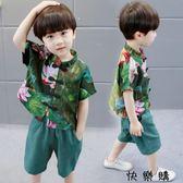 兒童唐裝洋氣小男孩寶寶名族風漢服