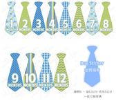 里和Riho 美國First Year 零歲寶寶成長記錄妙衣貼 型男領帶