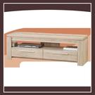 【多瓦娜】歐登淺木色5尺雙抽電視櫃 21152-466005