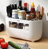 廚房置物架 廚房調料置物架多功能臺面調味料收納盒用品家用大全筷子刀架神器