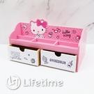 ﹝KittyPINK多功能二抽櫃﹞正版 二抽櫃 收納盒 置物盒 木櫃 凱蒂貓〖LifeTime一生流行館〗