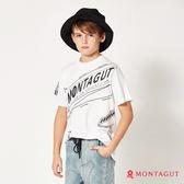 童裝男童純棉短袖T恤 夢特嬌 品牌印花款_白色