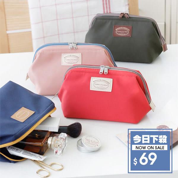 【DIFF】化妝包 韓系 優雅尼龍小包 隨身包 收納 整理包 繽紛色系  大容量 包中包