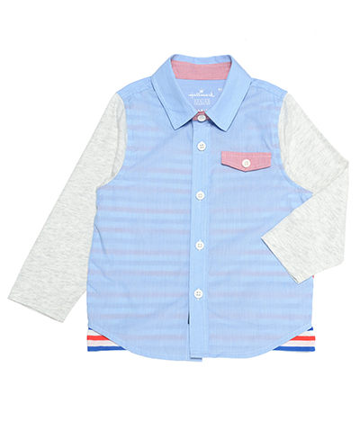 Hallmark Babies 男童長袖襯衫 HC1-R06-01-KB-NB