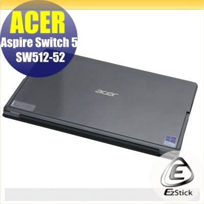 【Ezstick】ACER Switch 5 SW512-52 透氣機身保護貼 (機身背貼) DIY包膜