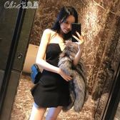 春夏女裝網紅性感收腰裹胸小禮服修身顯瘦抹胸洋裝「Chic七色堇」