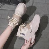 短靴 馬丁靴女英倫風秋季新款秋款加絨刷毛網紅瘦瘦百搭秋鞋短靴潮鞋冬 海港城
