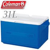 【Coleman 美國 31L 置物型冰桶 藍】行動冰箱/保冷冰箱/拉桿式行動冰箱CM-1330JM000★滿額送