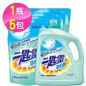 【一匙靈】制菌 超濃縮 洗衣精 1+5組合(2.4kgx1+1.5kgx5)-箱購